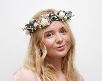 Bridal Floral Crown / Lavender Wedding  Headpiece Bridal Hair Piece Wedding Flower Crown Bride