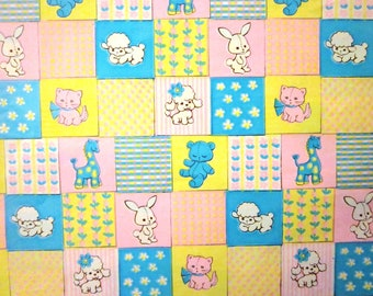 Vintage Wrapping Paper - Full Sheet Gift Wrap - New Baby - Baby Animals