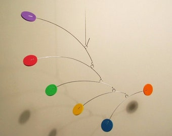 Itsy Very Small Baby Mobile hanging Color Art Mobile Kinetic Home Decor
