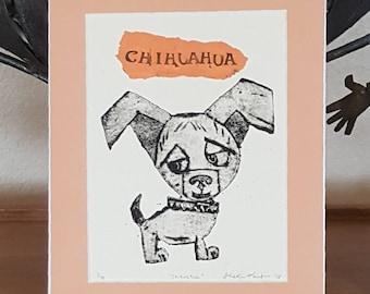 Chihuahua Art Print Original Print Chihuahua Custom Portrait