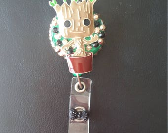 Baby groot badge reel