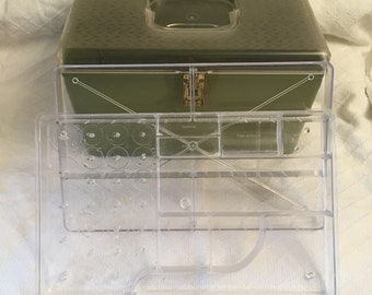 Vintage Wil Hold sewing box avocado green