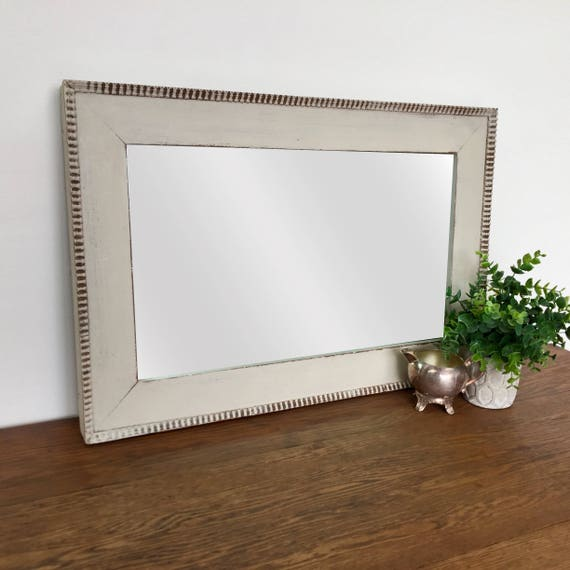 Rustic Decorative Mirror - French Bedroom Decor - Vintage Wall Mirror, Rustic Farmhouse Decor, Distressed Framed Mirror, Farmhouse Bathroom