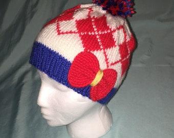 Sailor Scouts Argyle Knit Hat