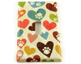 Light Switch Cover Wall Decor Switchplate Switch Plate in  Puppy Love (153)