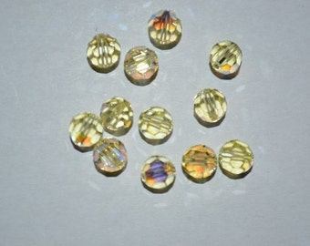 6mm Genuine Swarovski Jonquil AB Crystal Art. 5000 Round Faceted Beads (12 pieces)