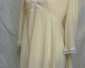 Cream Boho Tunic Blouse with Lace Trim