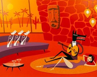 Josh Agle aka Shag Palm Springs Serenade