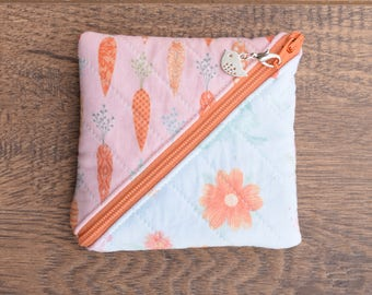 Origami zipper pouch - notions - coin purse