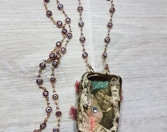 Vintage Old box Necklace