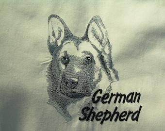 German Shepherd Canvas Tote Bag - Shopper bag - Eco Bag - Embroidered  Bag - Dog Tote Bag - beach bag -  Christmas gift