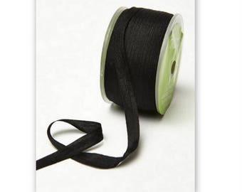 "4 yds Black Silk Ribbon 1/4"" wide  cheswickcompany"