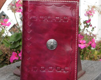Handmade Tooled Leather Bookcover