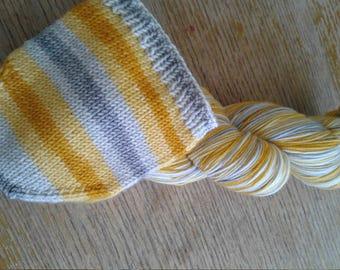 Hand Dyed Yarn, Self Striping Yarn - 'ello, Grello