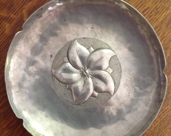 Peter Manzoni Copper Dish Silver Washed
