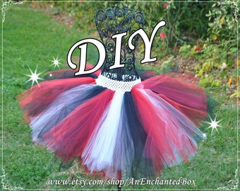 Diy ariel pink tutu kit for sassy skirt girls teens diy pirate tutu kit in black red white for sassy skirt girls solutioingenieria Images