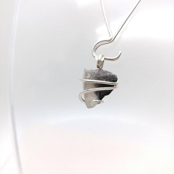 Raw Bicolor Tourmaline Pendant   Raw Stone Pendant Necklace   Sterling Silver Pendant   Raw Crystal Pendant   Rustic Stone Pendant   Boho