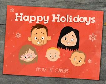 Custom Christmas Card & Family Portrait 2