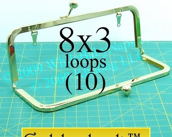 19% OFF 10 Goldenlock(TM) 8x3 purse frame with LOOPS