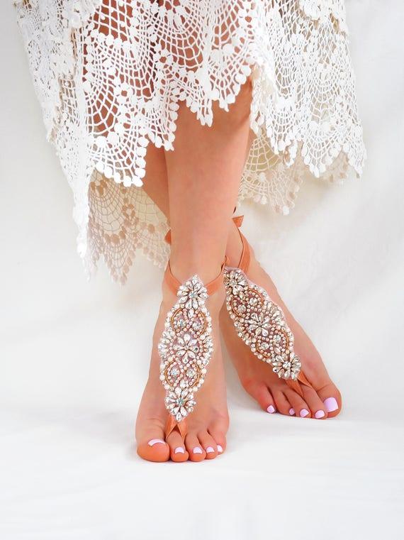 Sandals Bride Destination Wedding Boho Wedding Foot Party Bridal Wedding Rhinestone Jewelry Jewelry Beach Barefoot Custom Gift Indian zq1Ynwv8x