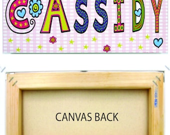 Personalized Custom Children's Name Canvas Ready to Hang