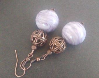 Earrings in ivory purple - available in different colors upon request
