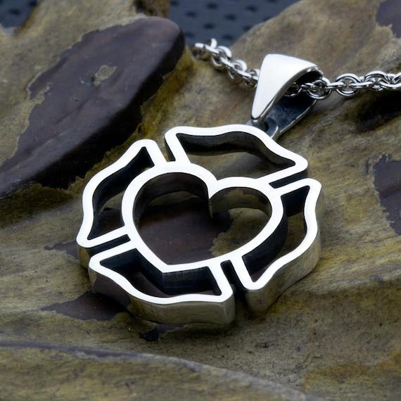 Firefighter maltese cross outline with heart center sterling like this item aloadofball Choice Image