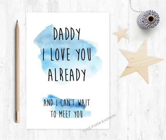 Cards fathers day lovepaperrainbow to daddy from bump fathers day card from bump i love you daddy bookmarktalkfo Choice Image