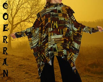 Poncho, cape 'Wood story...'