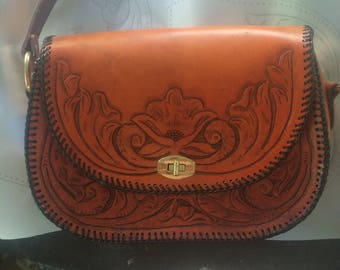 Traditional Western Style Purse/ with inside zipper pocket.