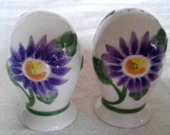 Vintage Pfaltzgraff Salt And Pepper Shakers With a Floral Decor