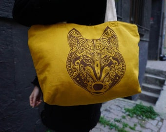 Aztek design wolf bag