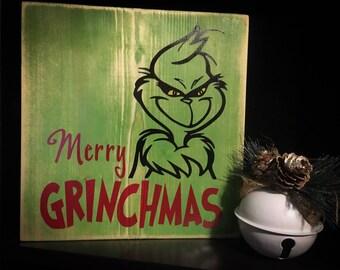 Merry Grinchmas sign