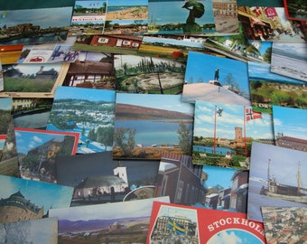 Assorted postcards from Sweden