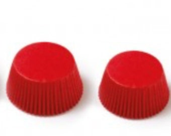 120 red baking cups 64 mm