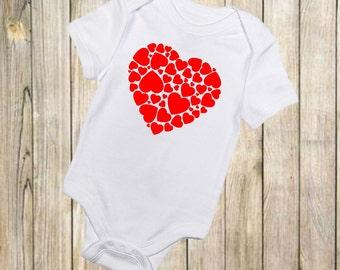 Heart Onesie - Valentines Day Onesie - Valentines Day Clothing - Baby Boy - Baby Girl-Baby Clothing-Baby Onesie-Valentines Onesie-Valentines
