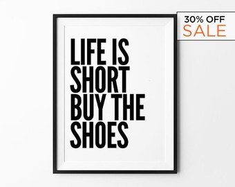 Fashion Wall Art, Bedroom Decor, Fashion Prints, Fashion Poster, Bedroom Wall Art, Dressing Room, Gift for Her, Gift for Women, Quote Art