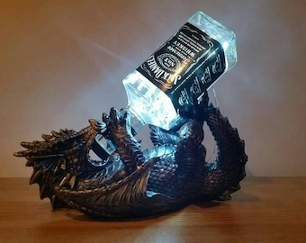 Jack Daniels dragon lamp