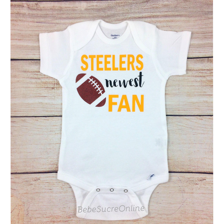 Steelers Newest Fan Steelers Football Bodysuit Steelers Baby