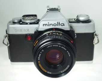 SERVICED!**Minolta XG-1 35mm camera w/ **Minolta Rokkor-X  45mm f2**