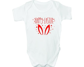 Happy Easter with Bunny Ears, Bodysuit, Romper, Baby clothes