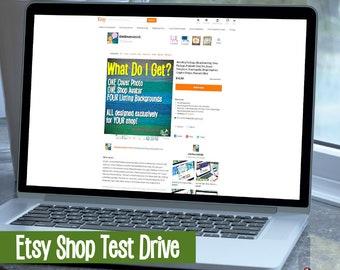 Custom Templates - Listing Image Backgrounds - Branded Listing Images - Shop Branding - Graphic Design