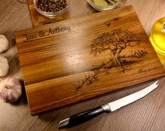 Wedding Cutting Board, Personalized Cutting Board