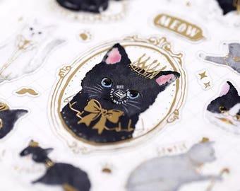 Sherlock Holmes cat sticker sheet x 1