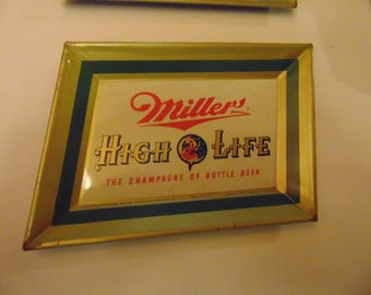 2 1951 Miller High Life tip trays