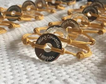 Customizable Silver ESTROMBOLI Donuts bracelet