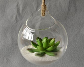 Hanging Planter for Succulents, Hanging Terrarium, Air Plant Holder, Succulent Terrarium, Tea Light Holder, Succulent Planter, Tillandsia