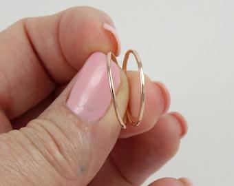 Super thin gold ring | Rose gold ring | Ultra thin ring | Thin rose gold ring | Dainty gold ring | Minimal gold ring | Gold stacking ring