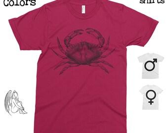 Crab T-shirt, Tee, American Apparel, Urban, Animal, Animals, Nautical, Sea, Vintage, Cute Gift