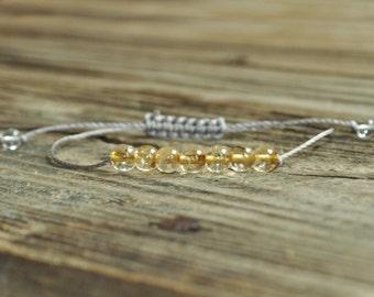 Citrine Yoga Bracelet, Solar Plexus Chakra, 3rd Chakra, Gemstone Therapy, Meditation Bracelet, Reiki, Wish Bracelet